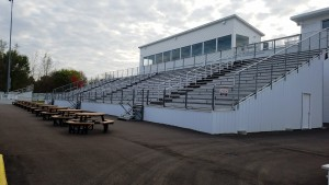 Main grandstands at Birch Run Speedway in fall of 2017. - Motor City Racing Promotions Photo